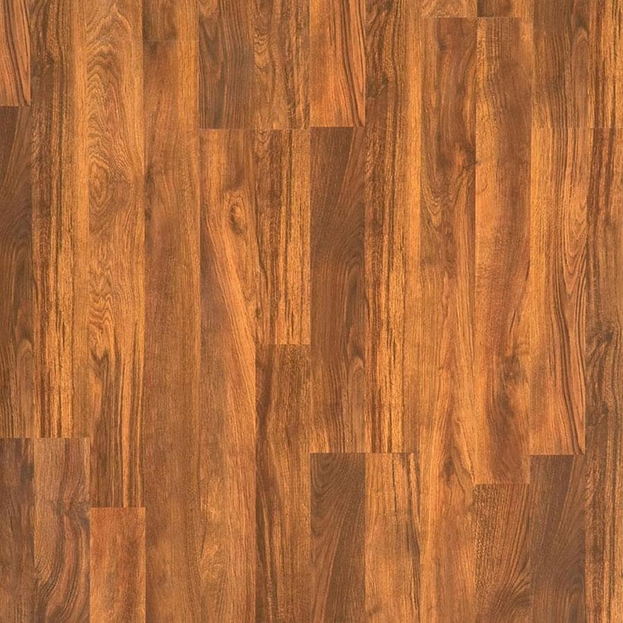 Style Selections 8.03-in W x 3.96-ft L Auburn Stained White Oak Smooth Wood Plank Laminate Flooring