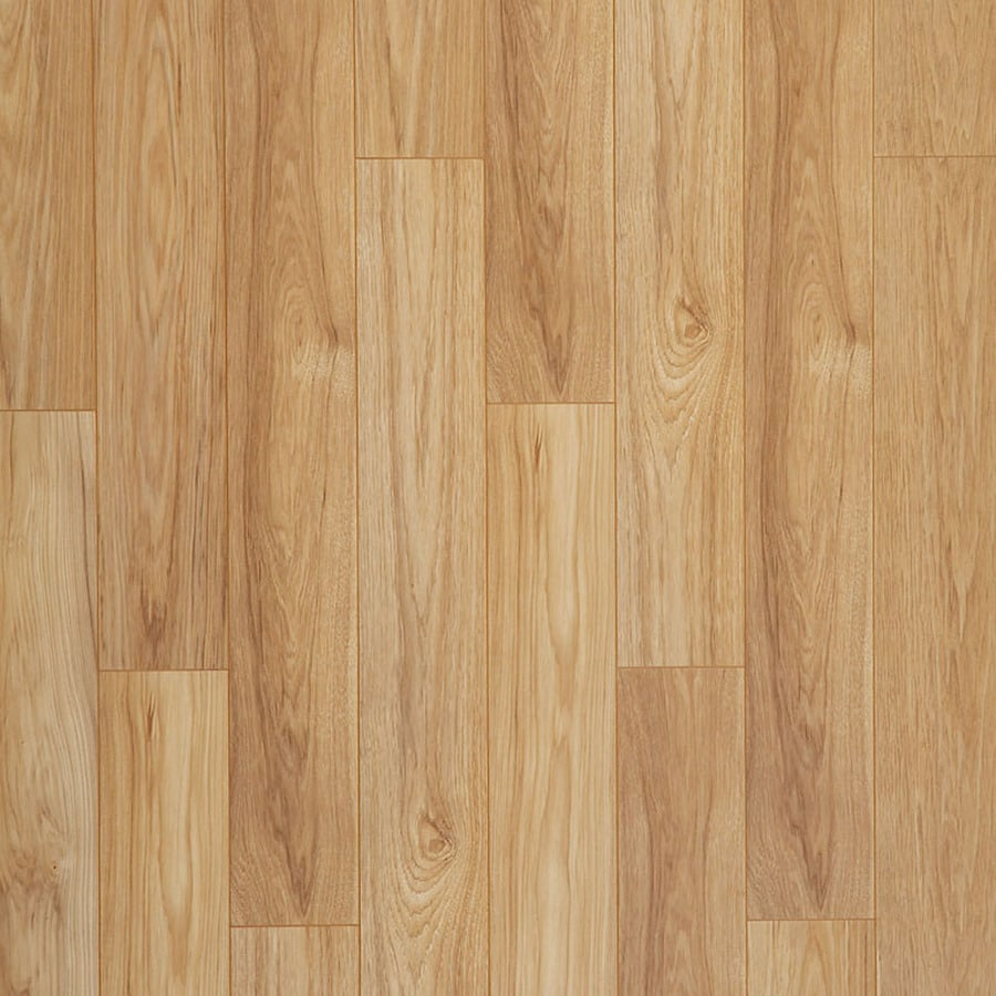 Shop allen roth golden butterscotch hickory wood planks for Hardwood laminate