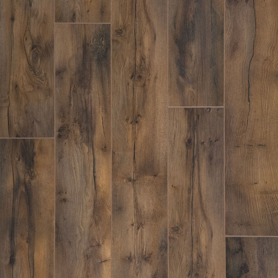 shop allen roth winsome tanned yew w x l smooth wood plank laminate flooring. Black Bedroom Furniture Sets. Home Design Ideas