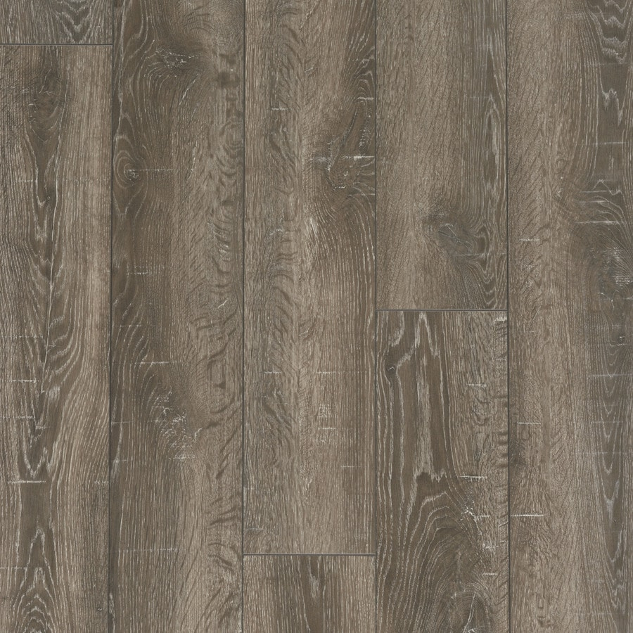 Style Selections 6.14-in W x 3.96-ft L Park Lodge Oak Embossed Wood Plank Laminate Flooring