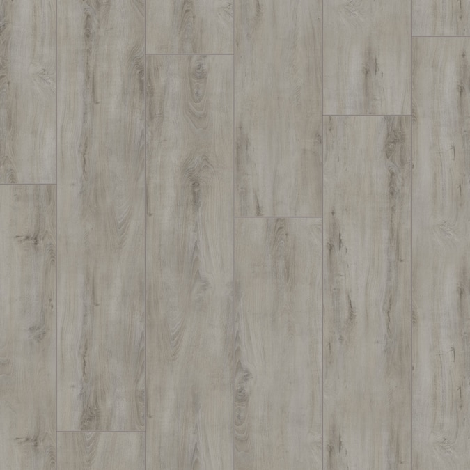 Allen Roth Telluride Oak 8 03 In W X 47 63 In L Smooth Wood Plank Laminate Flooring In The Laminate Flooring Department At Lowes Com