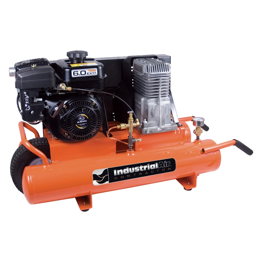 Industrial Air 8-Gallon Portable Gas Horizontal Air Compressor