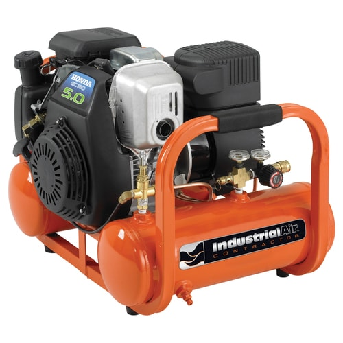 Industrial Air Industrial Air Contractor 4-Gallon Single Stage Portable Gas Horizontal Air Compressor at Lowes.com
