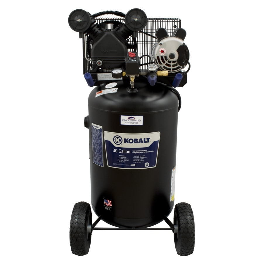 Kobalt 1.6-HP 30-Gallon 155 PSI Electric Air Compressor