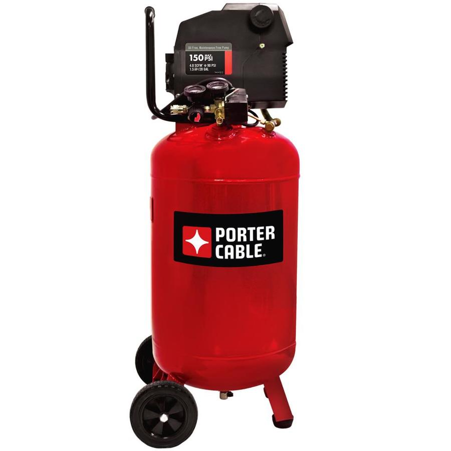 PORTER-CABLE 20-Gallon Portable Electric Vertical Air Compressor