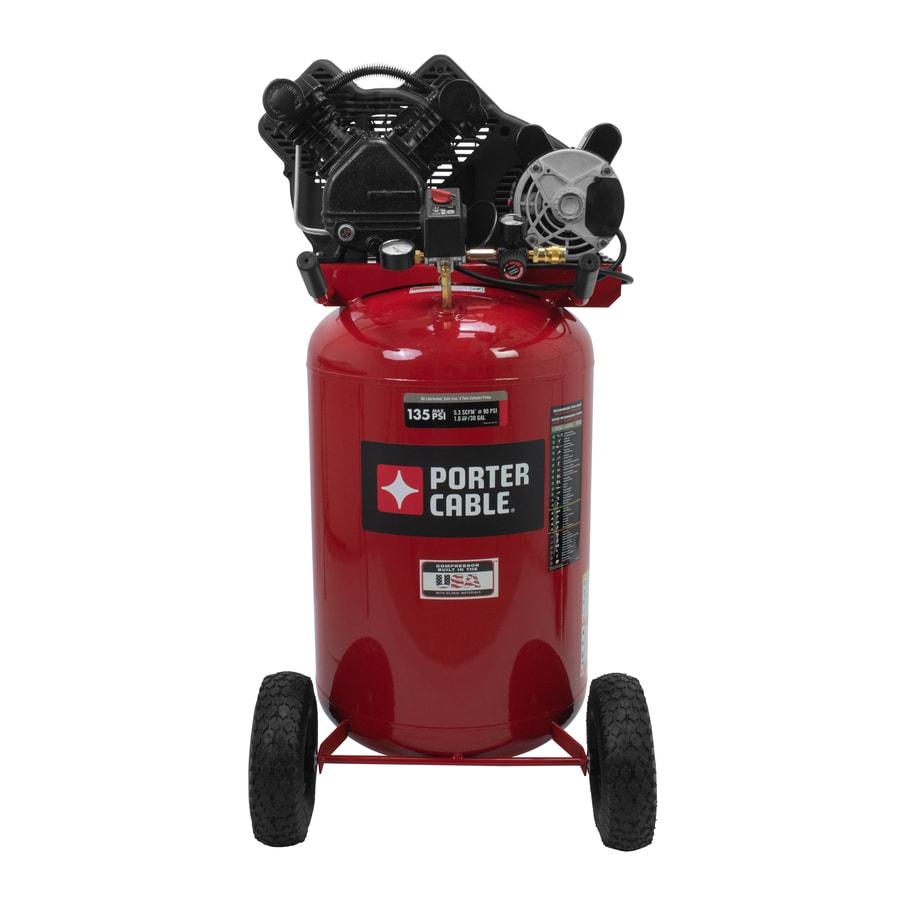PORTER-CABLE 1.6-HP 30-Gallon 135-PSI 120-Volt Vertical Portable Electric Air Compressor
