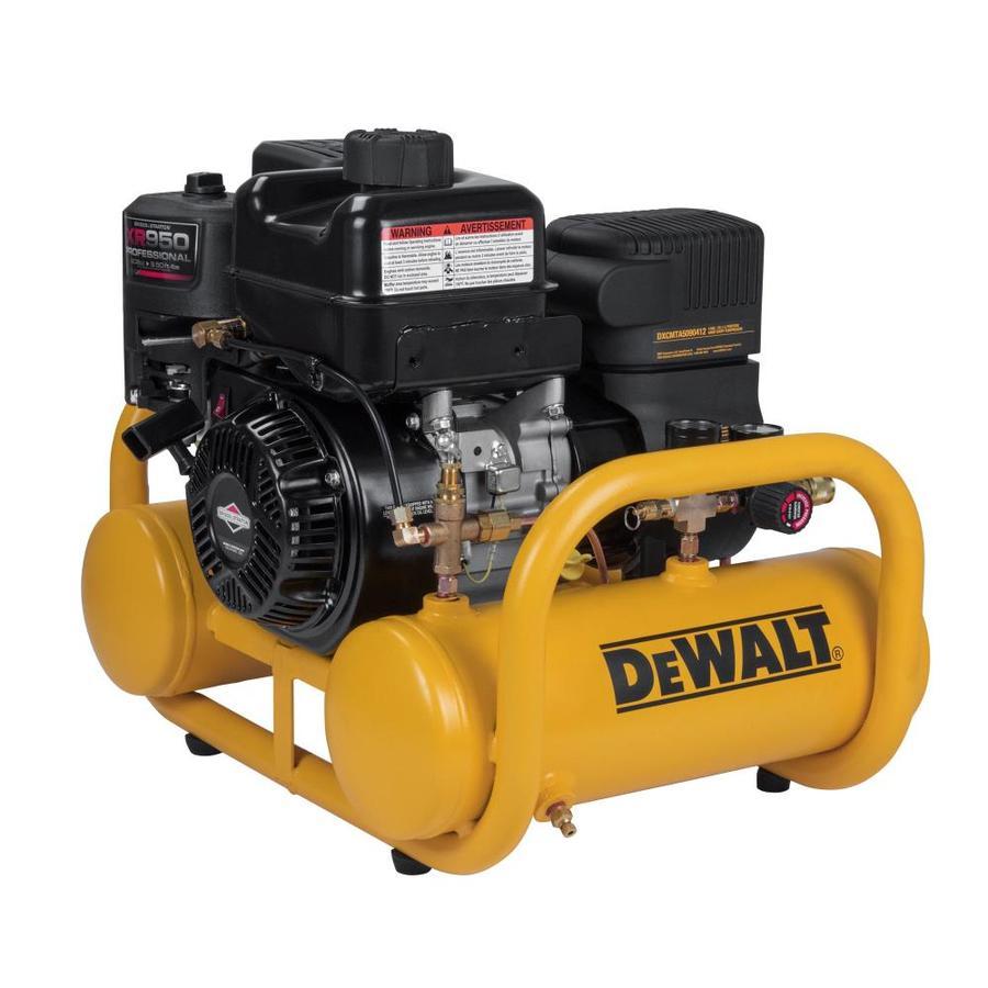 DEWALT 4-Gallon Portable Gas Twin Stack Air Compressor