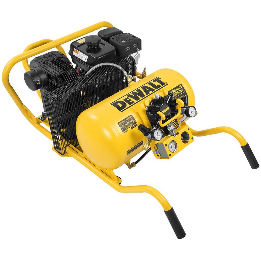 DEWALT 10-Gallon 155-PSI Horizontal Portable Gas Air Compressor