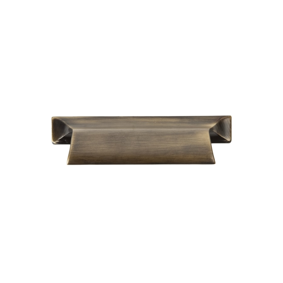Continental Home Hardware 2-3/4-in Center-to-Center Vintage Brass Boise Cup Cabinet Pull