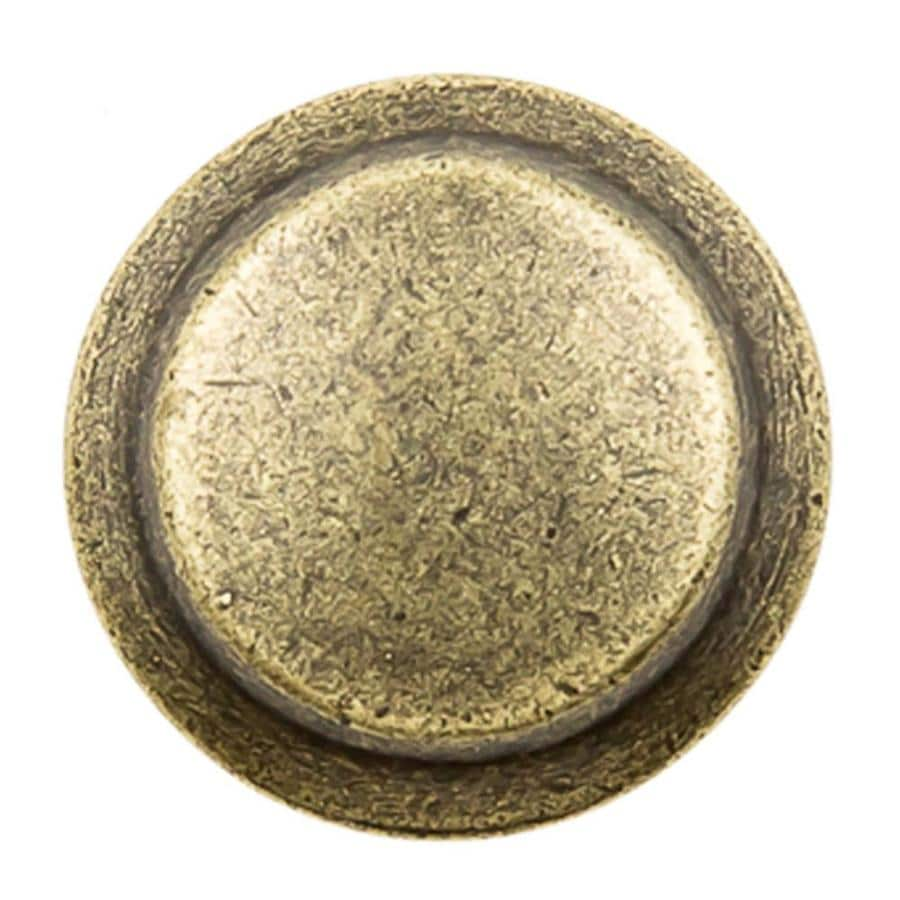 Continental Home Hardware Furniture Hardware Antique Brass Round Cabinet  Knob. Shop Continental Home Hardware Furniture Hardware Antique Brass