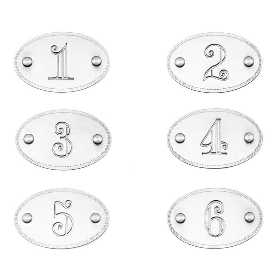 Continental Home Hardware 6-Pack Silver Cabinet Backplates
