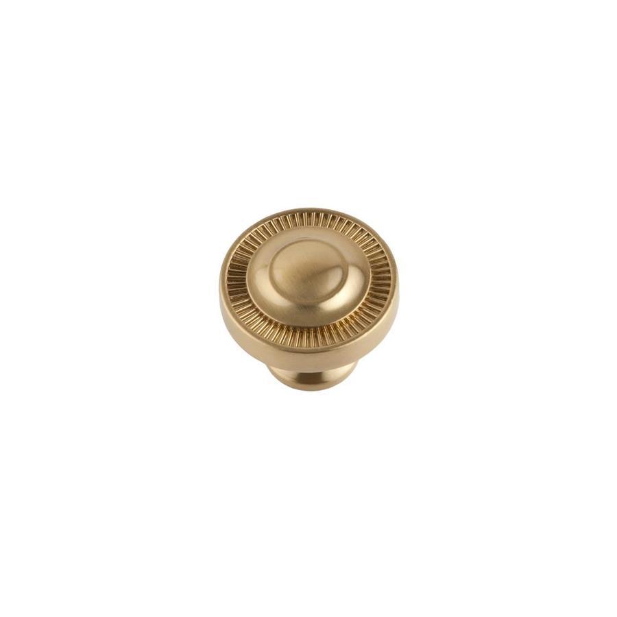 Sumner Street Minted Satin Brass Round Cabinet Knob