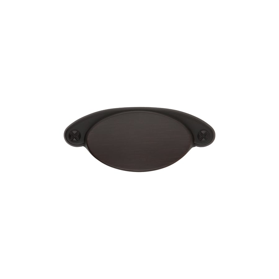 Sumner Street 2-1/4-in Center-to-Center Oil-Rubbed Bronze Ovaline Cup Cabinet Pull