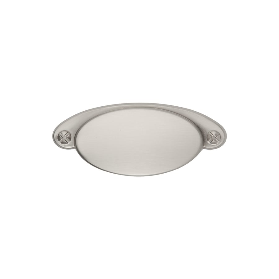 Sumner Street 3-in Center-to-Center Satin Nickel Ovaline Cup Cabinet Pull
