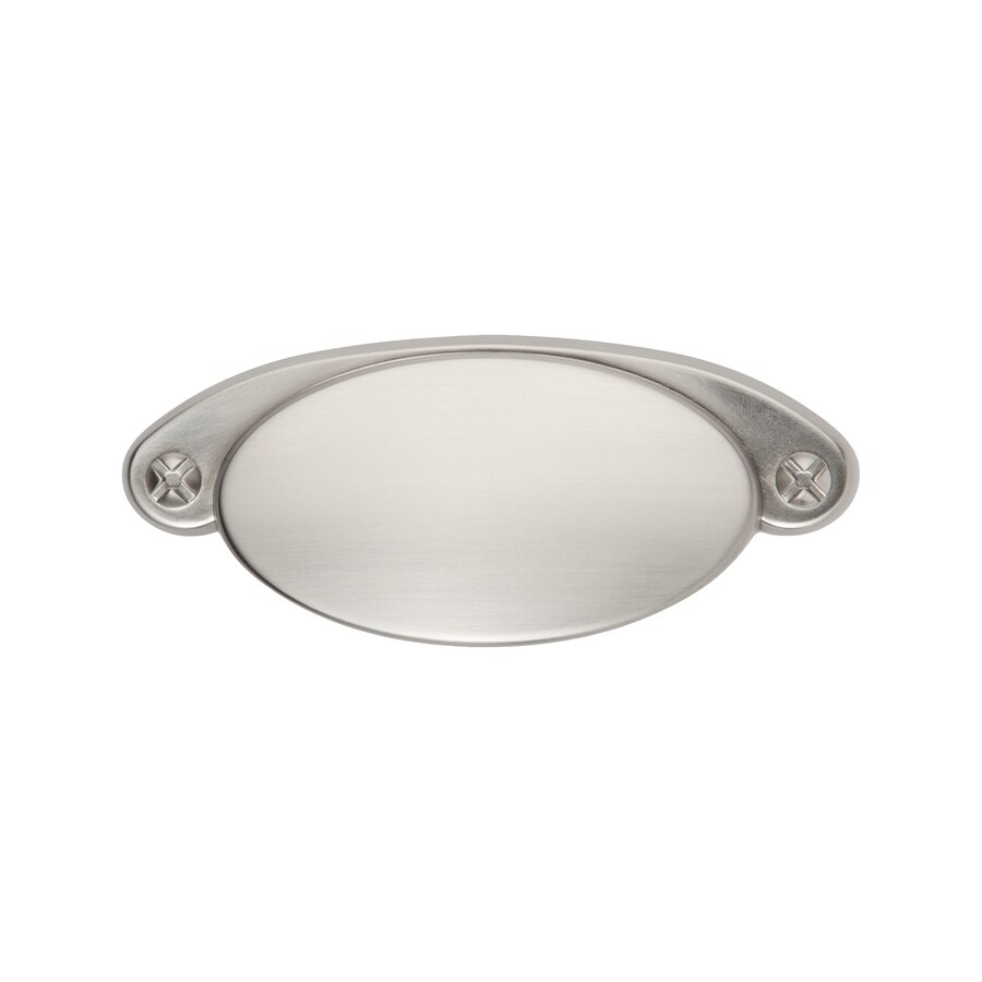 Sumner Street 3-1/2-in Center-to-Center Satin Nickel Ovaline Cup Cabinet Pull