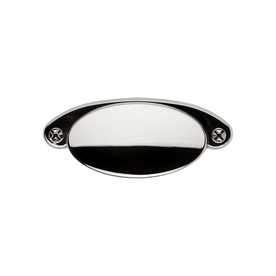 Sumner Street 3-1/2-in Center-to-Center Polished Nickel Ovaline Cup Cabinet Pull