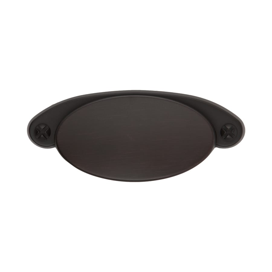 Sumner Street 3-1/2-in Center-to-Center Oil-Rubbed Bronze Ovaline Cup Cabinet Pull