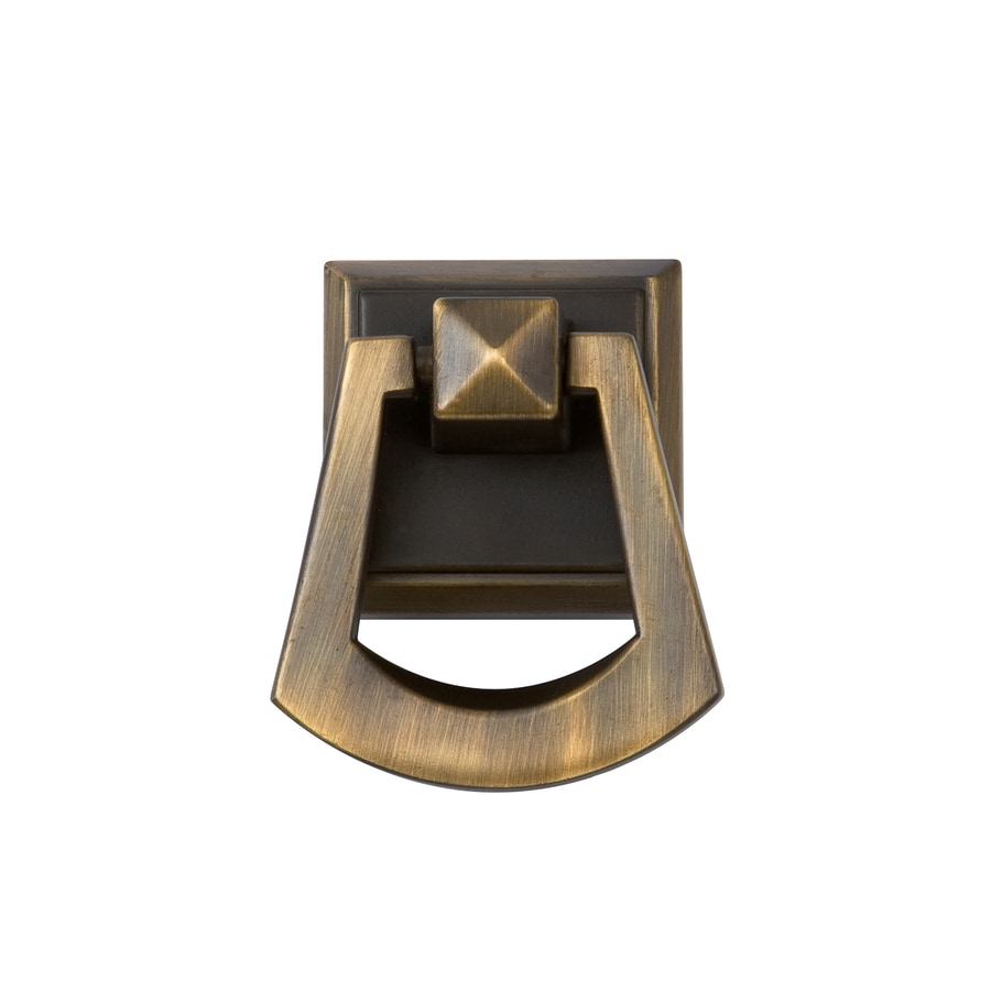 Sumner Street Pyramid Vintage Brass Square Cabinet Knob