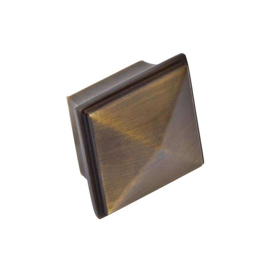 Sumner Street Home Hardware Pyramid Vintage Brass Square Cabinet Knob
