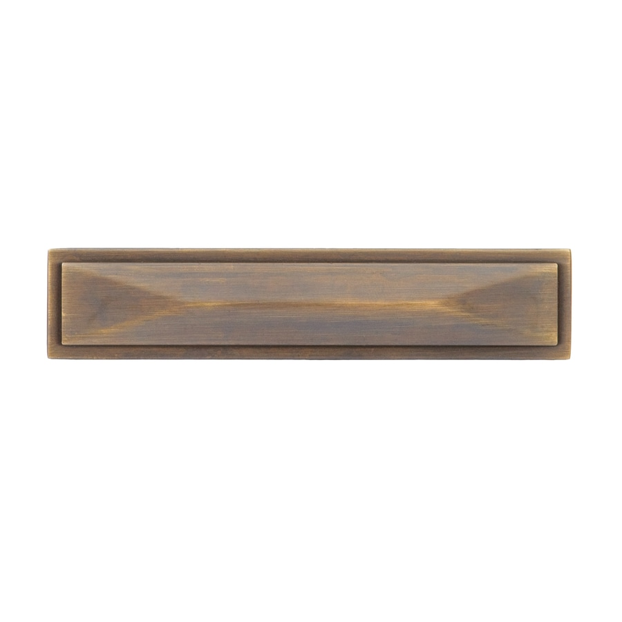 Sumner Street 3-in Center-to-Center Vintage Brass Symmetry Rectangular Cabinet Pull
