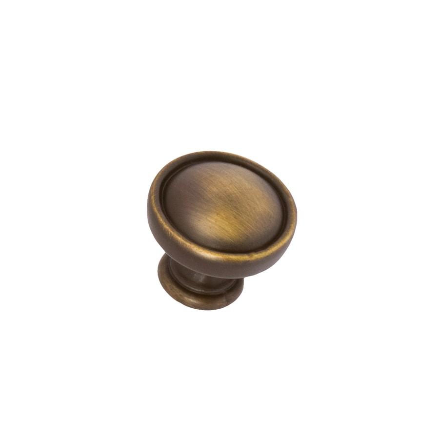 Sumner Street Symmetry Vintage Brass Round Cabinet Knob
