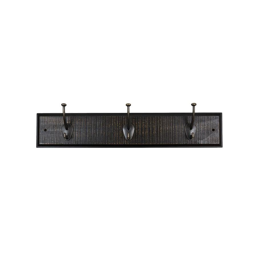Sumner Street Ebony 3-Hook Mounted Coat Rack