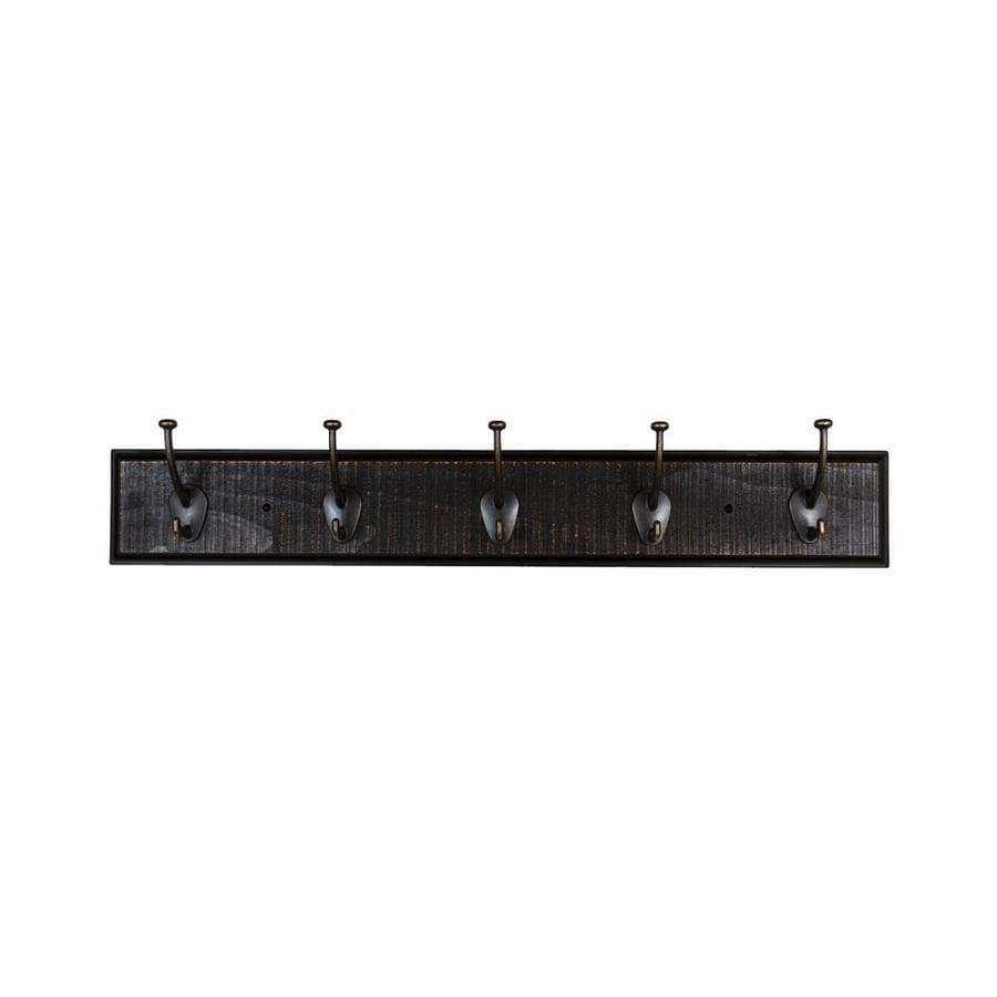 Shop Sumner Street Ebony 5 Hook Wall Mounted Coat Rack At