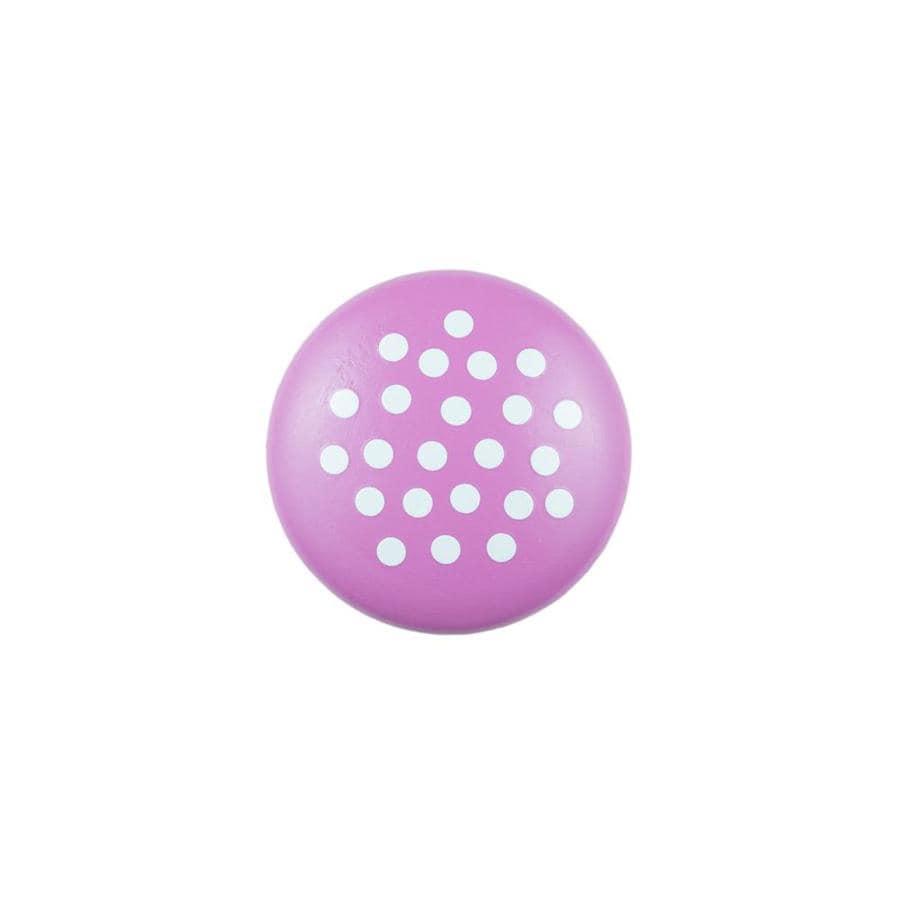 Sumner Street Pink with White Dots Round Cabinet Knob