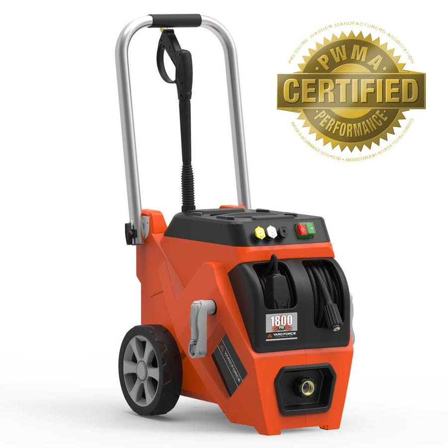 Yard Force 1,800-PSI 1.2-GPM Cold Water Electric Pressure Washer