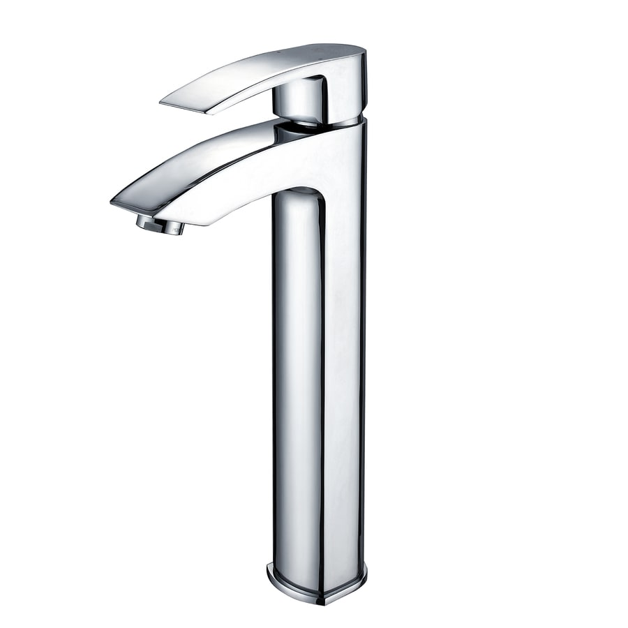 Kraus Vessel Mixer Chrome 1-Handle Vessel WaterSense Bathroom Faucet