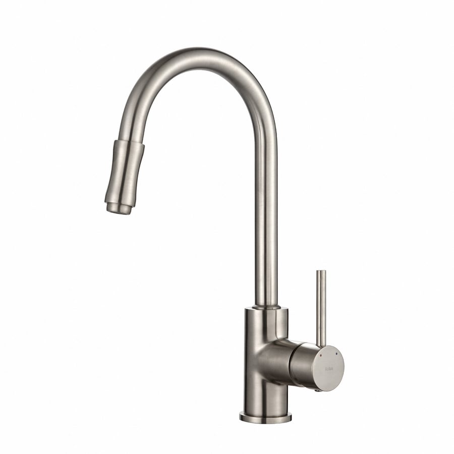 Kraus Premier Satin Nickel 1-Handle Pull-Down Kitchen Faucet