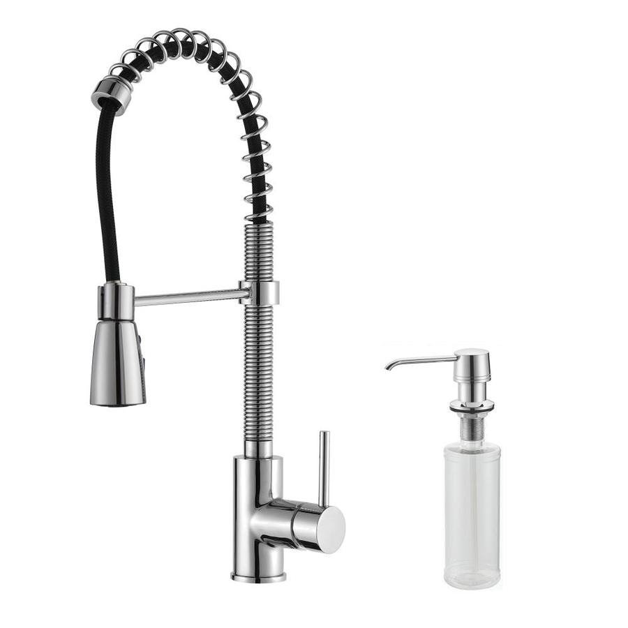 Kraus Premium Kitchen Faucet Chrome 1-Handle Pull-Down Kitchen Faucet
