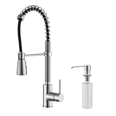 Premium Kitchen Faucet Chrome 1-Handle Deck Mount Pre-Rinse  Commercial/Residential Kitchen Faucet