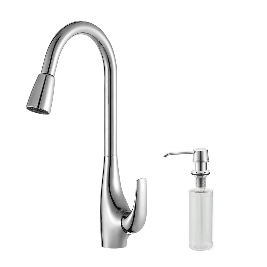kraus kitchen faucets reviews kraus premium chrome 1 handle pull down kitchen faucet at lowes com 6311