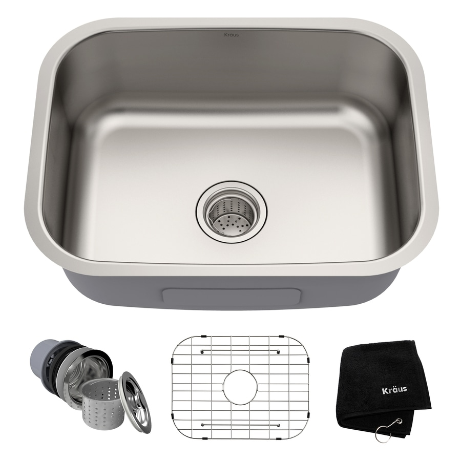 Shop Kraus Premier Kitchen Sink 23 In X 17 5 In Stainless