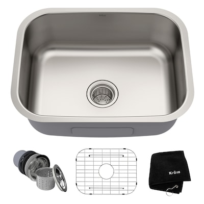 Kraus Premier Kitchen Sink Undermount 23 In X 17 5 In Stainless Steel Single Bowl Kitchen Sink In The Kitchen Sinks Department At Lowes Com