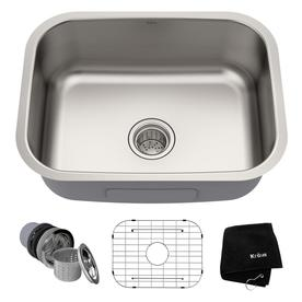 Kraus Premier Kitchen Sink 23-in x 17.5-in Stainless Steel Single-Basin  sc 1 st  Loweu0027s & Kitchen Sinks at Lowes.com
