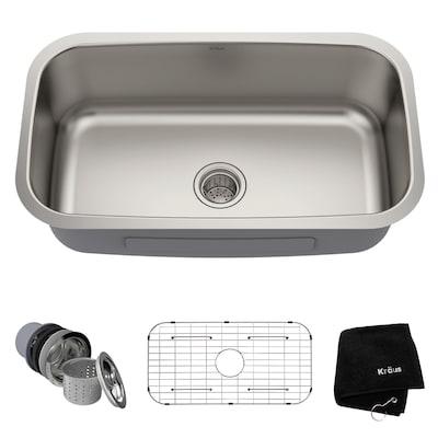 Premier Kitchen Sink 31.5-in x 18.38-in Stainless Steel Single Bowl  Undermount Residential Kitchen Sink