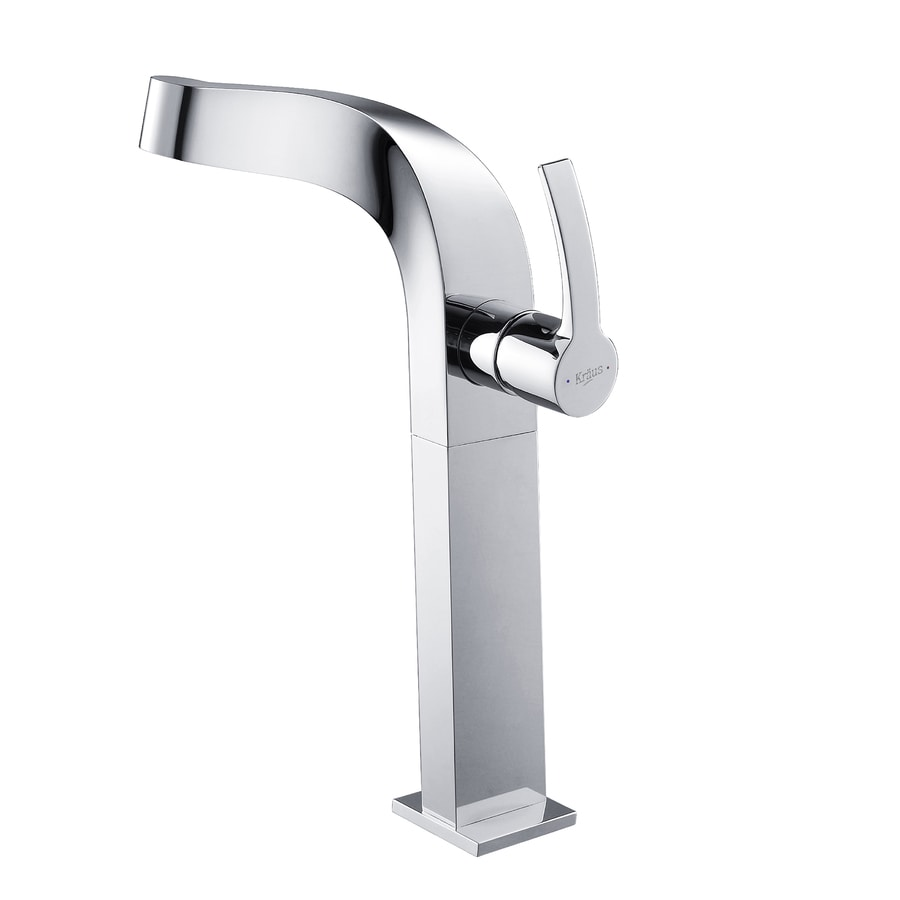 Kraus Typhon Chrome 1-Handle Single Hole WaterSense Bathroom Faucet