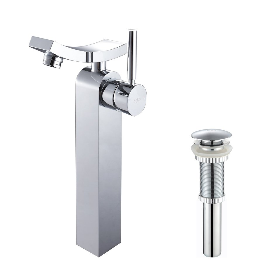 Kraus Unicus Chrome 1-Handle Vessel WaterSense Bathroom Faucet (Drain Included)