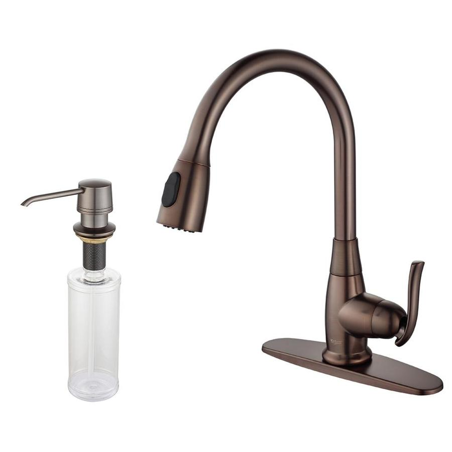 Kraus Premium Kitchen Faucet Oil Rubbed Bronze 1-Handle Pull-Down Kitchen Faucet