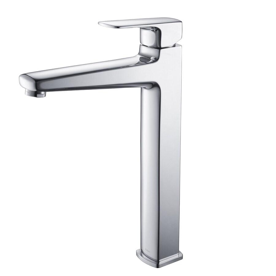 Kraus Virtus Chrome 1-Handle Vessel WaterSense Bathroom Faucet