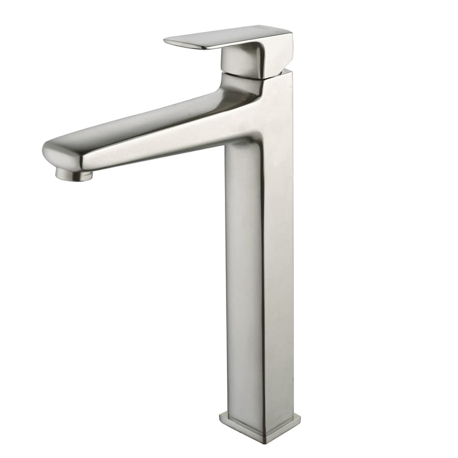 Kraus Virtus Brushed Nickel 1-Handle Vessel WaterSense Bathroom Faucet