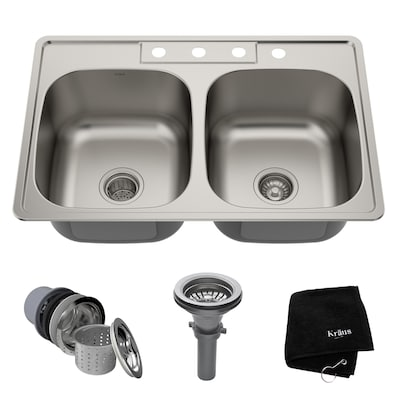 Premier Kitchen Sink Double Equal Bowl Sinks At Lowes
