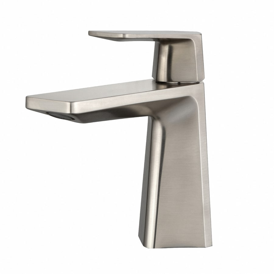 Kraus exquisite brushed nickel 1 handle single hole - Single hole bathroom faucets brushed nickel ...
