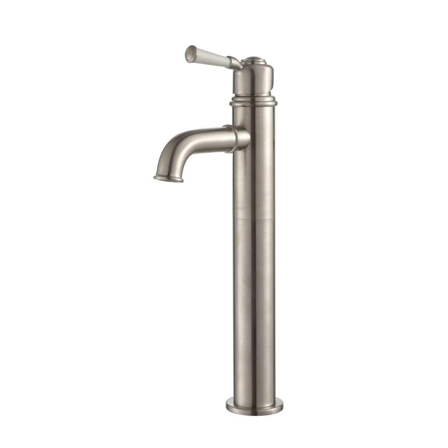 Kraus Exquisite Brushed Nickel 1-Handle Vessel WaterSense Bathroom Faucet