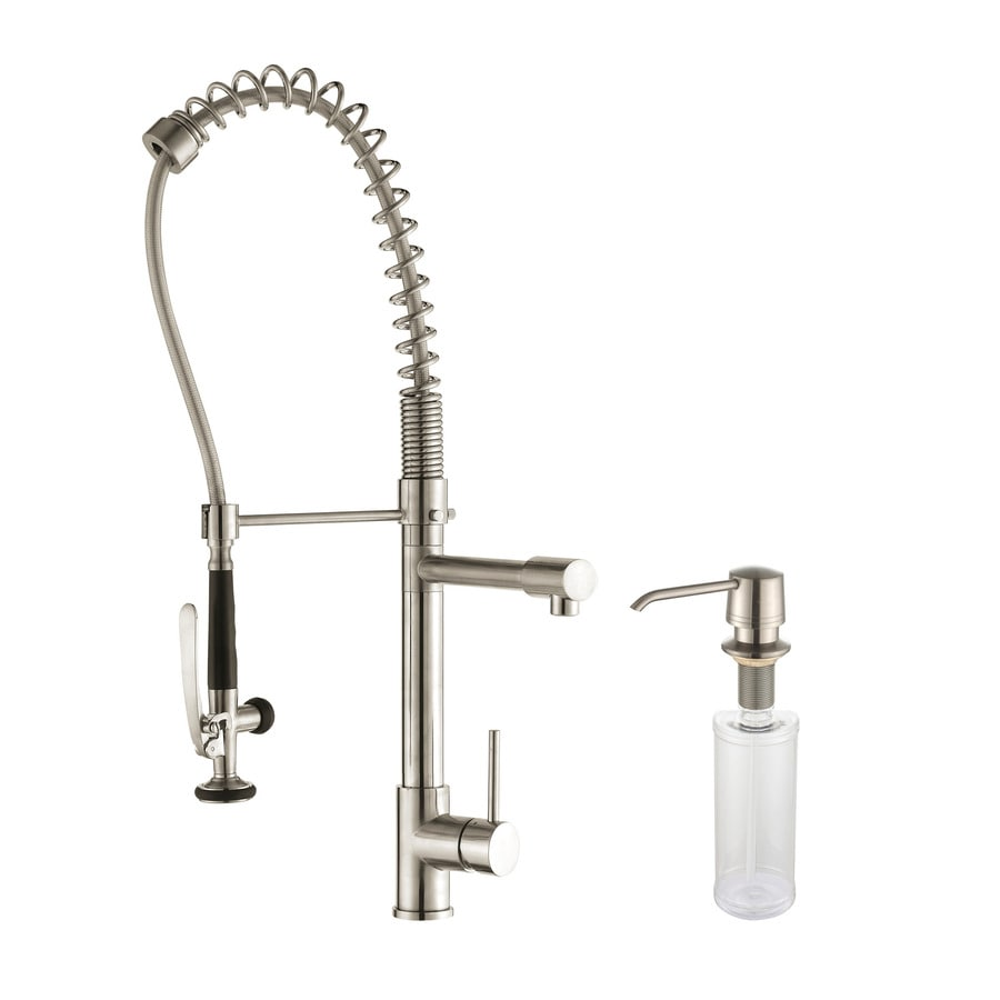 Kraus Premium Stainless Steel 1-Handle Pre-Rinse Kitchen Faucet