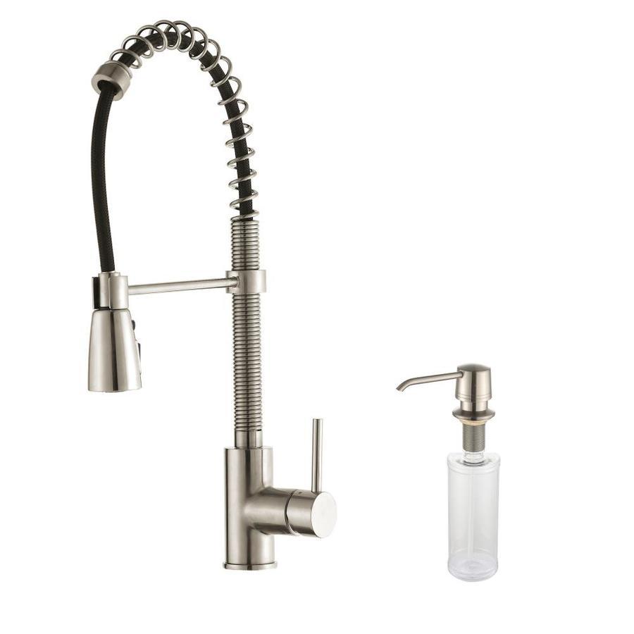 Kraus Premium Stainless Steel 1-Handle Pre-Rinse Kitchen Faucet