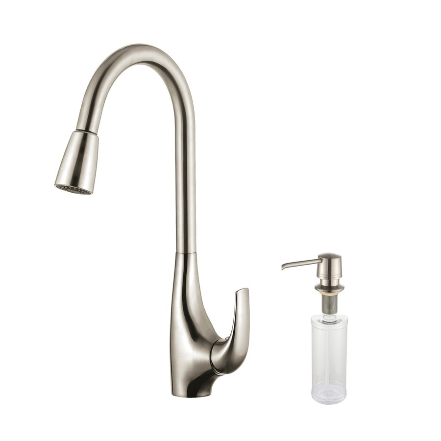 Kraus premium stainless steel 1 handle pull down kitchen faucet