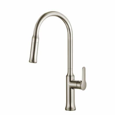 Pull Down Kitchen Mixer Stainless Steel 1-handle Deck Mount Pull-down  Kitchen Faucet